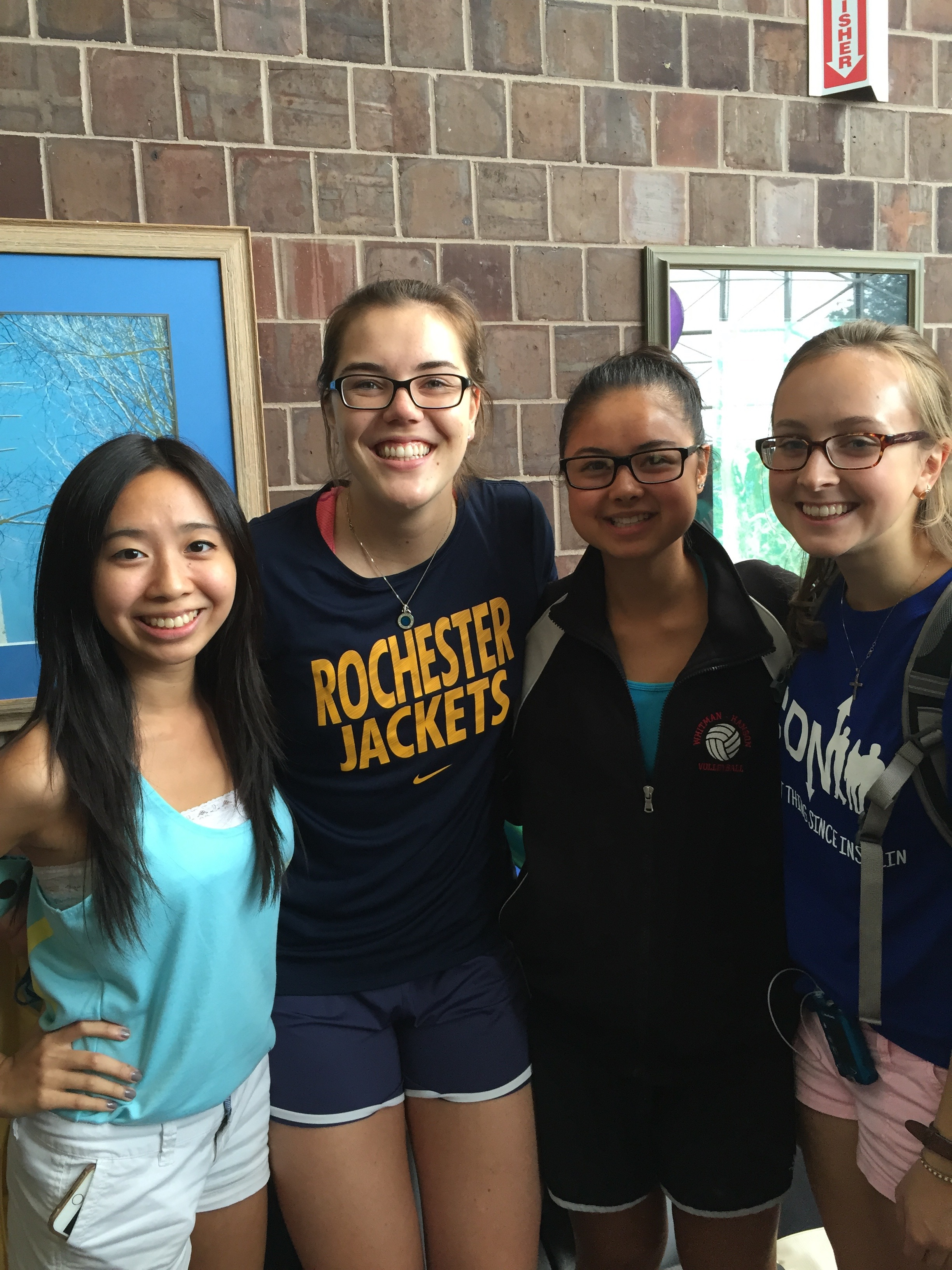 Here is Fiona (all the way to the left) with her past and present Freshmen!