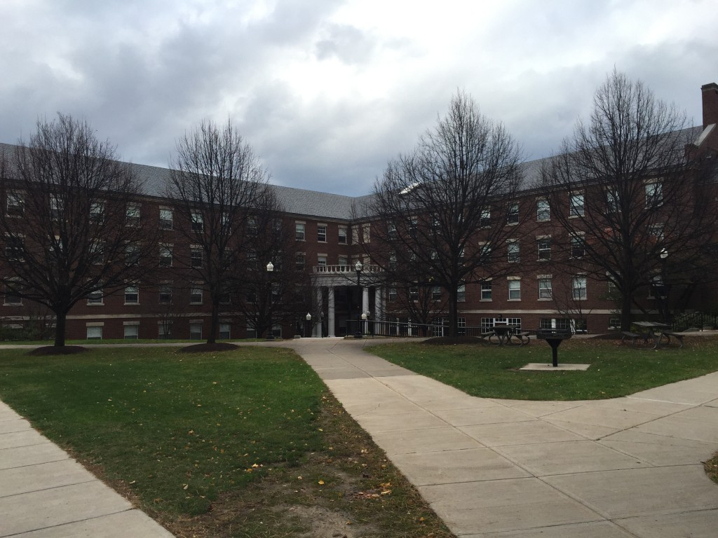 Gilbert Residence Hall in the Quad