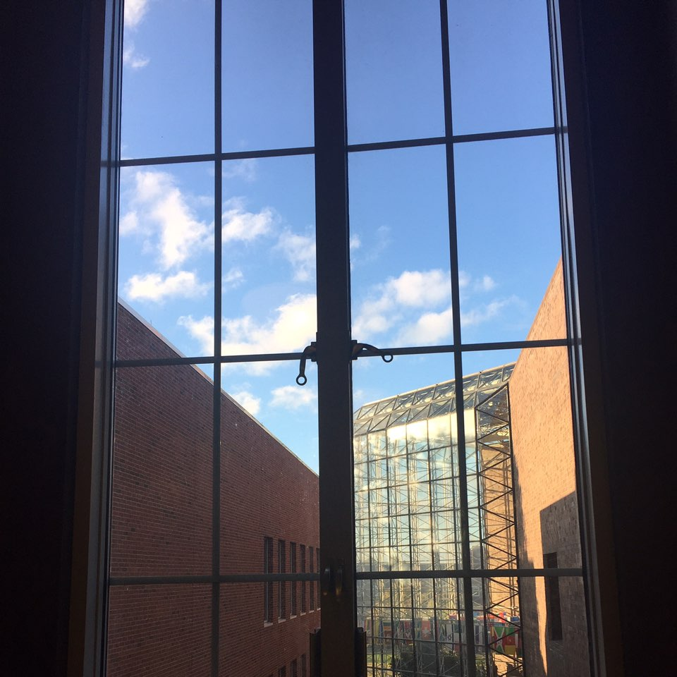 View out the Morey Hall window