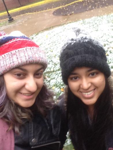 My roommate, Liz, and I!