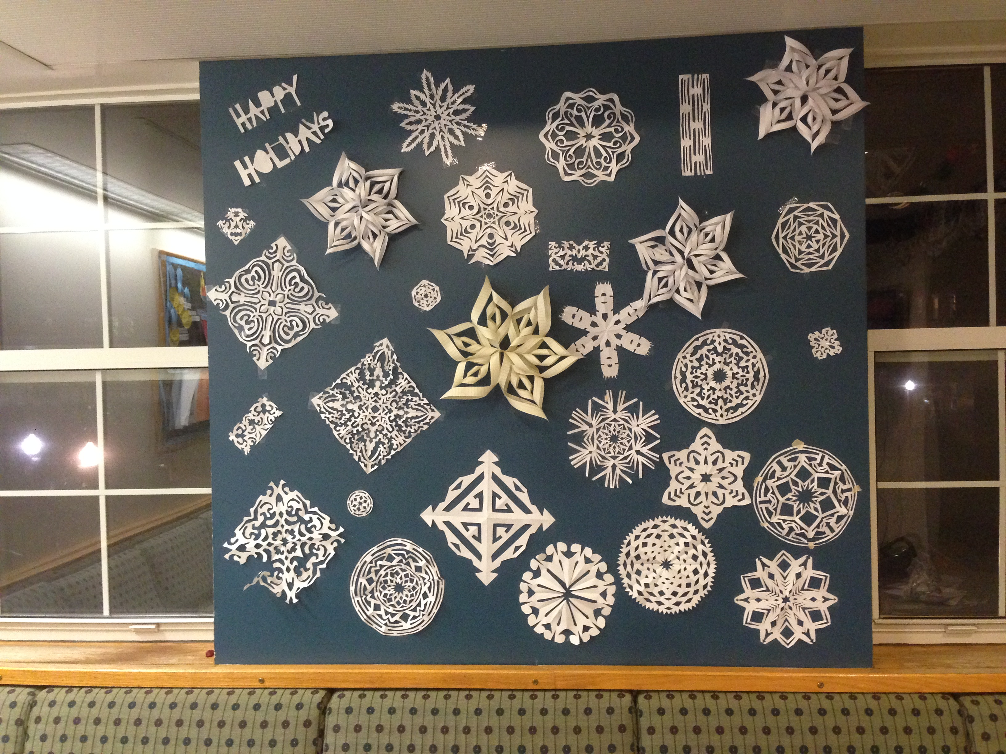 We made snowflakes for my D'Lions hall program!