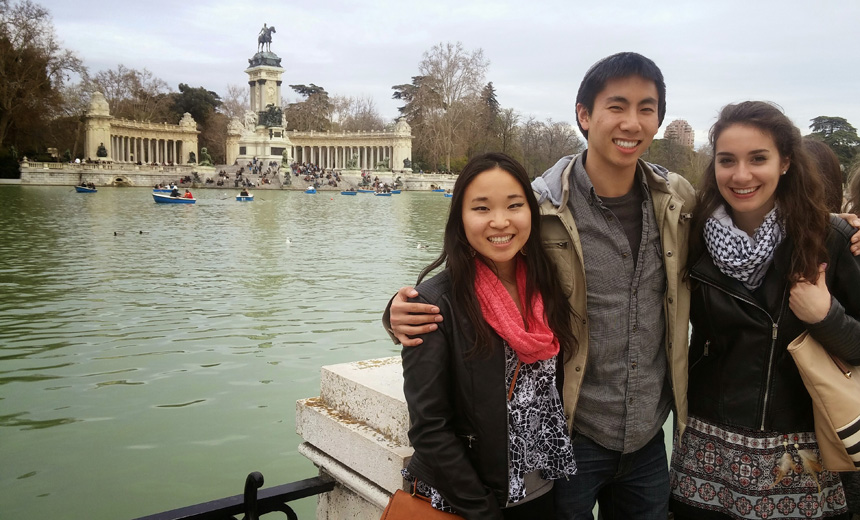Rochester study abroad students in Madrid