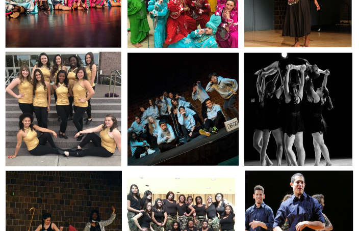 dance group collage