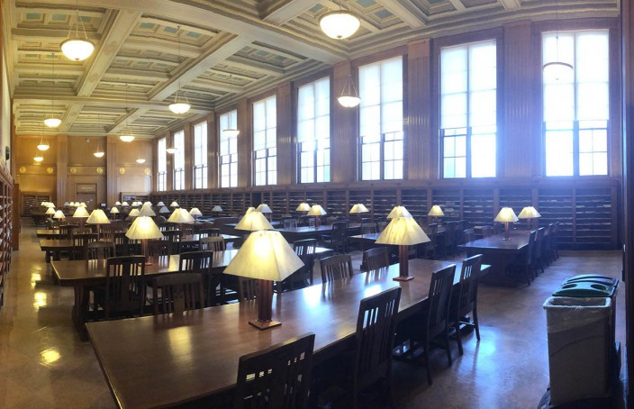 Periodical Reading Room at Rush Rhees.