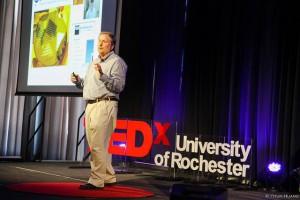 James McGrath, University of Rochester professor during his talk.