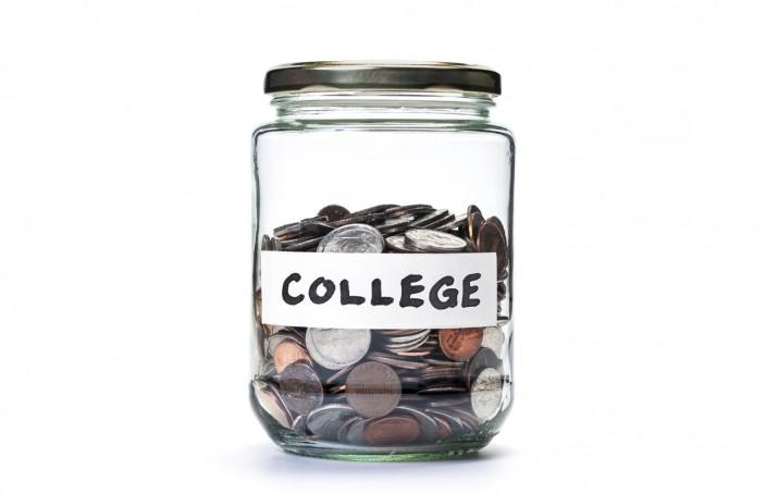 College savings coin jar