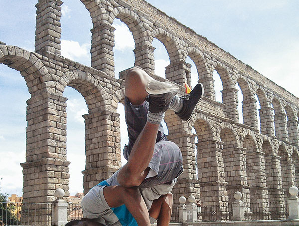 'Admiring the Aqueduct' by Boubacar Dialo '16, Segovia, Spain '14