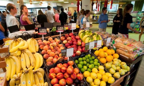 Produce at dining center