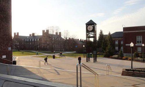 Clock tower on campus