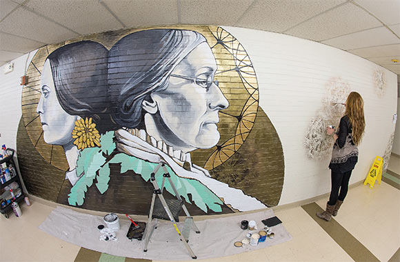 Susan B. Anthony mural